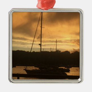 Ornament - boat at dusk