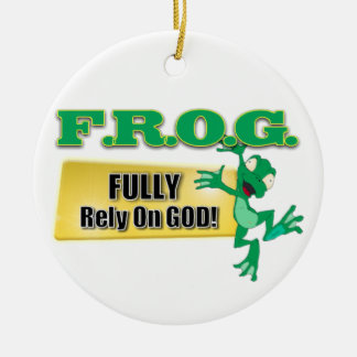 ORNAMENT CHRISTIAN ACRONYM FROG - FULL RELY ON GOD