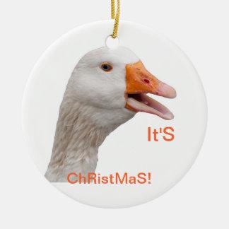 Ornament: Christmas Goose Christmas Ornament