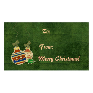 Ornament Christmas Tags Pack Of Standard Business Cards