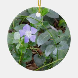 Ornament: Common Periwinkle, Vinca Minor Round Ceramic Decoration