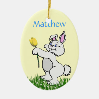 Ornament - Easter - Bunny & Tulip (L/F)