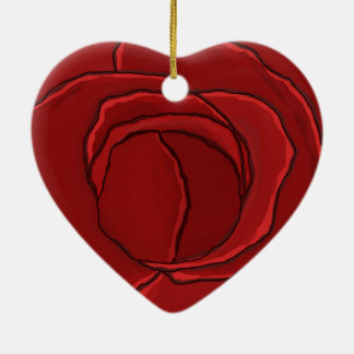 "Ornament Heart ""Red Rose"""