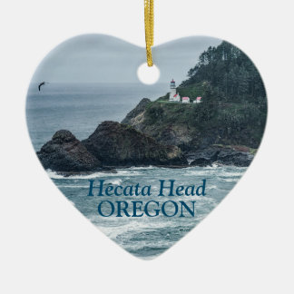 Ornament: Hecata Head Lighthouse (Heart) Christmas Ornament
