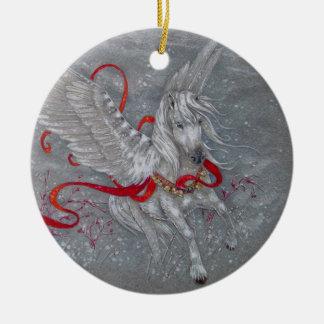 Ornament - Holiday Pegasus