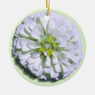 Ornament - Lemony White Zinnia