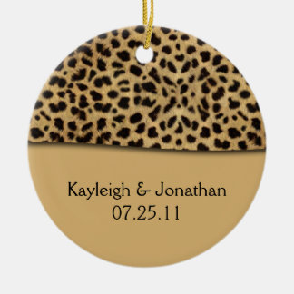 Ornament Leopard Print Wedding Date Keepsake