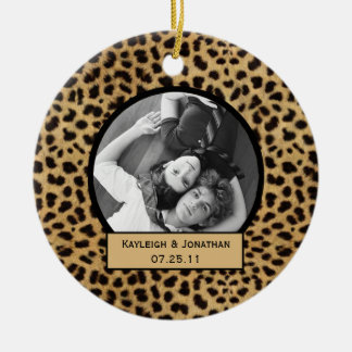 Ornament Leopard Print Wedding Keepsake