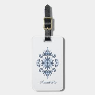 Ornament Mandala Luggage tag/ leather strap Luggage Tag
