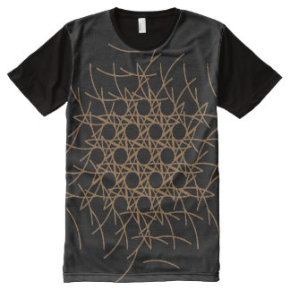 Ornament of Arcs of Circles  All over Print Panel All-Over Print T-Shirt