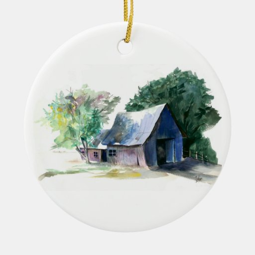 Ornament - Painting of barn