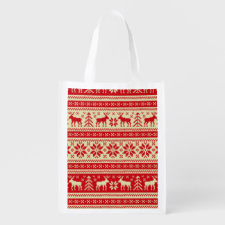 Ornament Pattern Reusable Grocery Bag