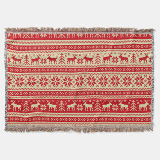 Ornament Pattern Throw Blanket