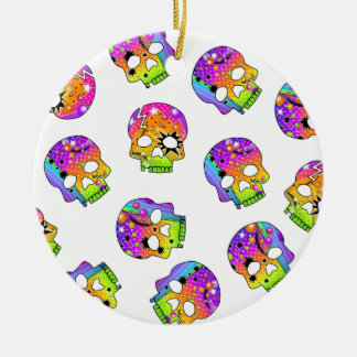 Ornament - Pop Art Skulls