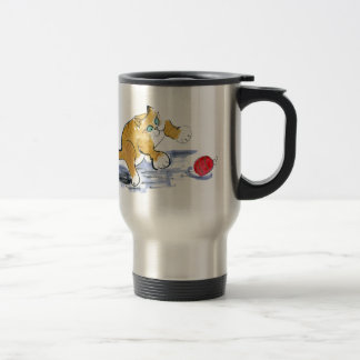 Ornament Pounce by Kitten Stainless Steel Travel Mug