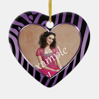 Ornament Purple Black Zebra Sweet 16