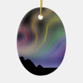 Ornament: Rainbow Northern Lights Christmas Ornament
