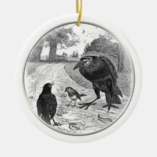 Ornament Raven Holding Court