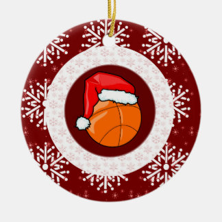 Ornament - Santa Basketball