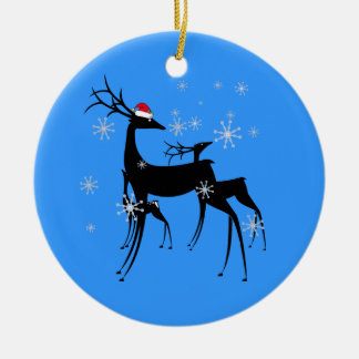 Ornament - Santa Reindeer