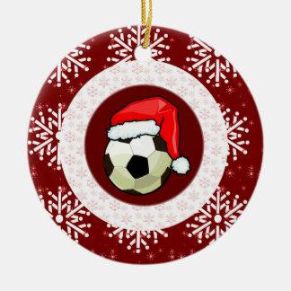 Ornament - Santa Soccer Ball