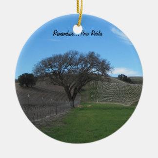 Ornament: Scenic Paso Robles Vineyard Christmas Ornament