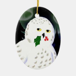 Ornament: Snowy Owl Christmas Ornament