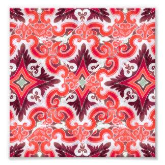 Ornament Swirls Retro Pattern Photo Art