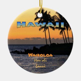 Ornament: Twilight At Waikoloa (Circle) Christmas Ornament