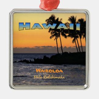 Ornament: Twilight At Waikoloa (Premium Square) Christmas Ornament