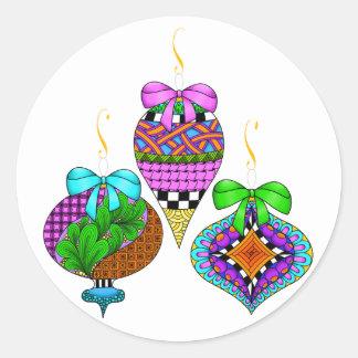 Ornament Twist Round Sticker