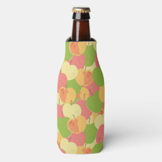Ornament With Apples Bottle Cooler
