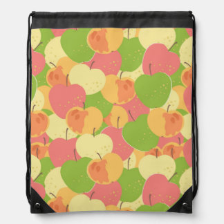 Ornament With Apples Drawstring Bag