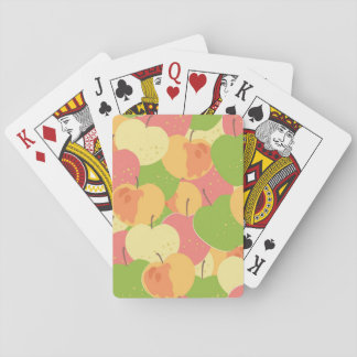 Ornament With Apples Playing Cards