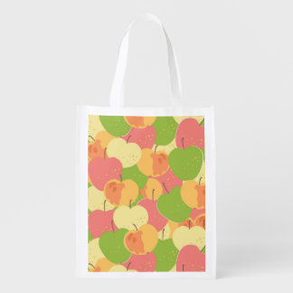 Ornament With Apples Reusable Grocery Bag