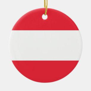 Austria Flag Christmas Tree Decorations Ornaments Zazzle Co Uk