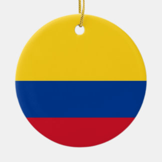 Ornament with flag of Colombia