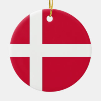 Ornament with flag of Denmark
