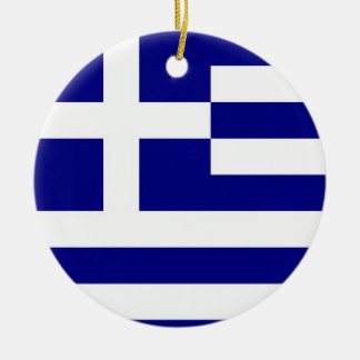 Ornament with flag of Greece