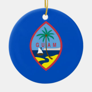 Ornament with flag of Guam