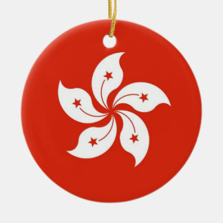 Ornament with flag of Hong Kong, China