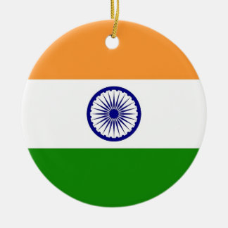 Ornament with flag of India