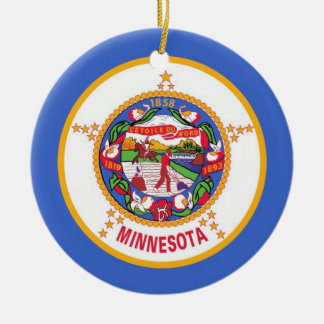 Ornament with flag of Minnesota