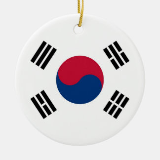 Ornament with flag of South Korea