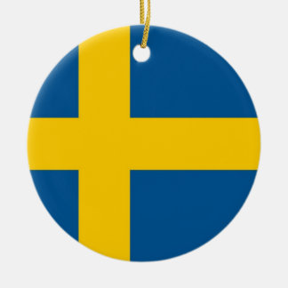 Ornament with flag of Sweden