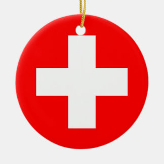 Ornament with flag of Switzerland