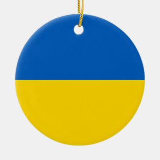 Ornament with flag of Ukraine