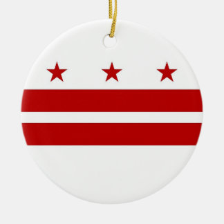 Ornament with flag of Washington DC