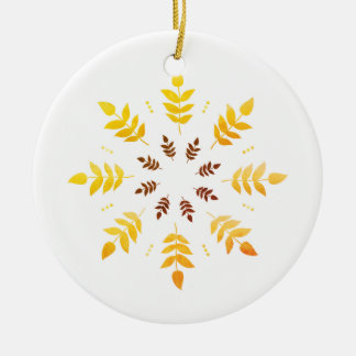 Ornament with hand-drawn Leaves