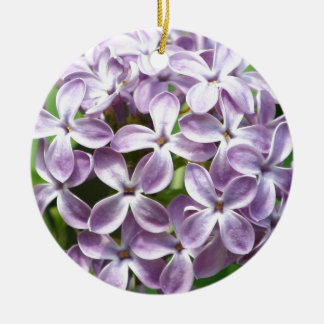 ornament with photo of beautiful purple lilacs